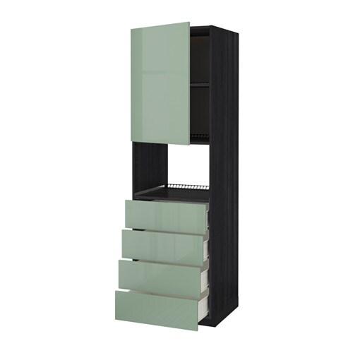 Metod f rvara mobile forno microond anta 4cassett effetto legno nero kallarp lucido verde - Mobile da incasso forno ikea ...