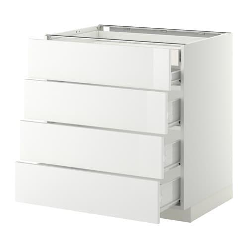 METOD / FÖRVARA Mobile 4front/2cassetti bassi/3medi IKEA Il cassetto ...