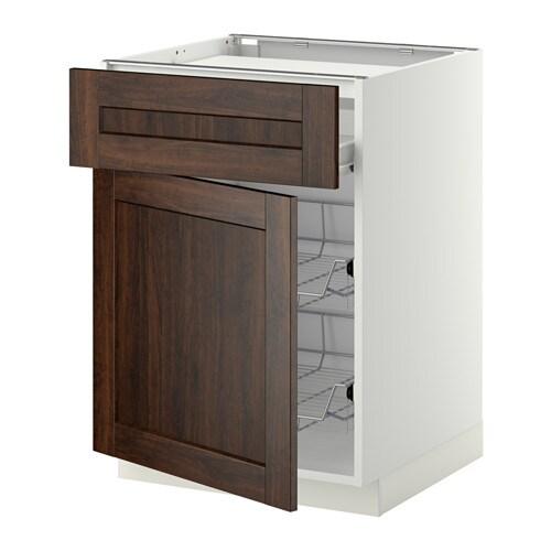 Metod f rvara mobile piano cottura casset 2cestel bianco edserum effetto legno marrone ikea - Mobile piano cottura ...