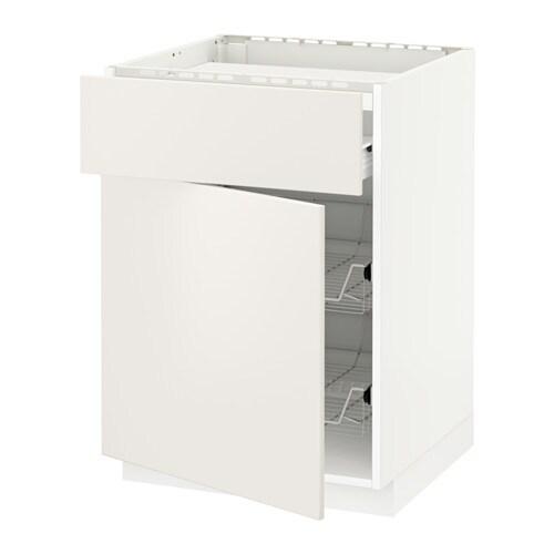 METOD / FÖRVARA Mobile piano cottura/casset/2cestel - bianco ...