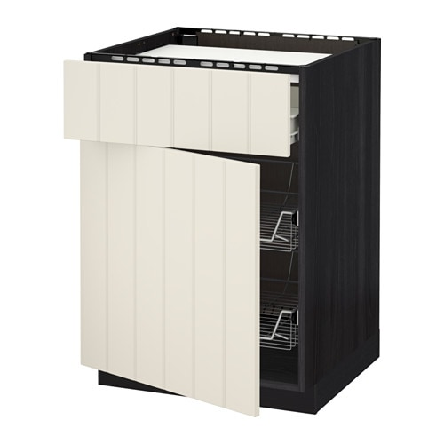Metod f rvara mobile piano cottura casset 2cestel effetto legno nero hittarp bianco sporco - Piano cottura induzione ikea ...