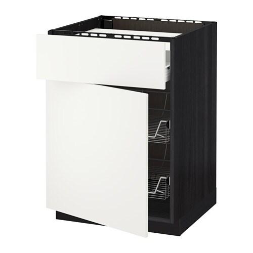 Metod f rvara mobile piano cottura casset 2cestel effetto legno nero h ggeby bianco ikea - Mobile piano cottura ...