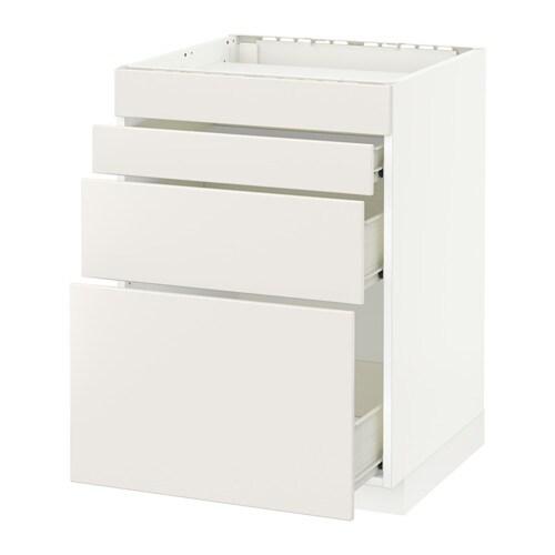 Metod f rvara mobile piano cottura 4front 3cass bianco - Piano cottura elettrico ikea ...