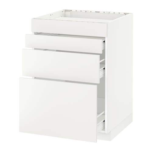 Metod f rvara mobile piano cottura 4front 3cass bianco h ggeby bianco 60x60 cm ikea - Mobile piano cottura ...