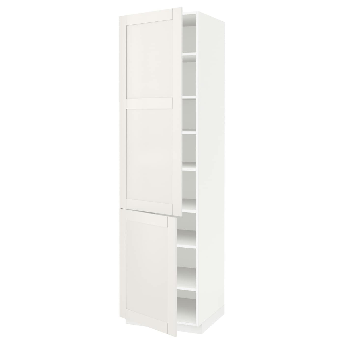 METOD Mobile alto con ripiani/2 ante, bianco, Sävedal ...