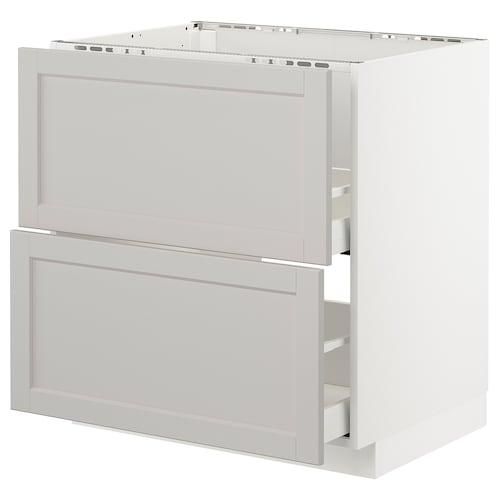 IKEA METOD / MAXIMERA Mobile lavello/2frontali/2cassetti