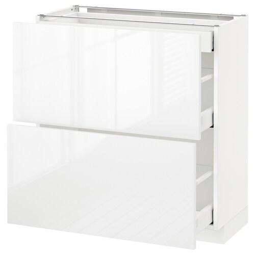 IKEA METOD / MAXIMERA Mobile base/2frontali/3cassetti