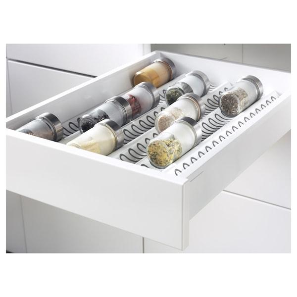 METOD / MAXIMERA Mob 3front/2casset bas/1med/1alt, bianco/Brokhult grigio chiaro, 40x60 cm