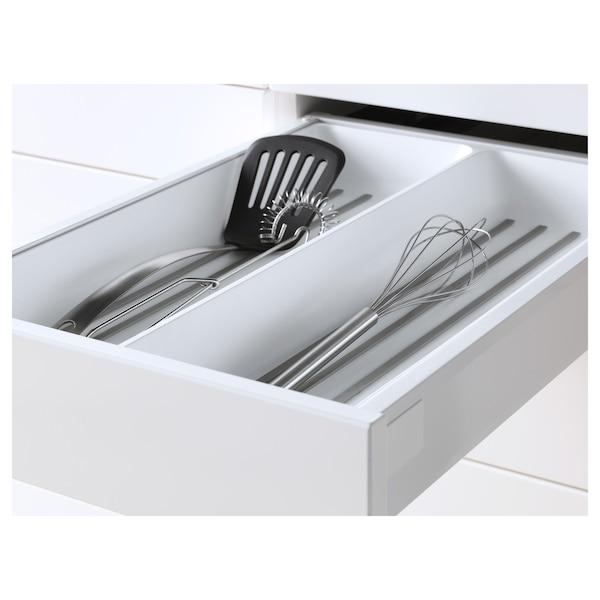 METOD / MAXIMERA Mob 3front/2casset bas/1med/1alt, bianco/Ringhult bianco, 40x60 cm