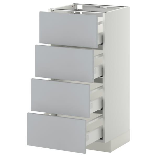 METOD / MAXIMERA Mobile/4 frontali/4 cassetti, bianco/Veddinge grigio, 40x37 cm