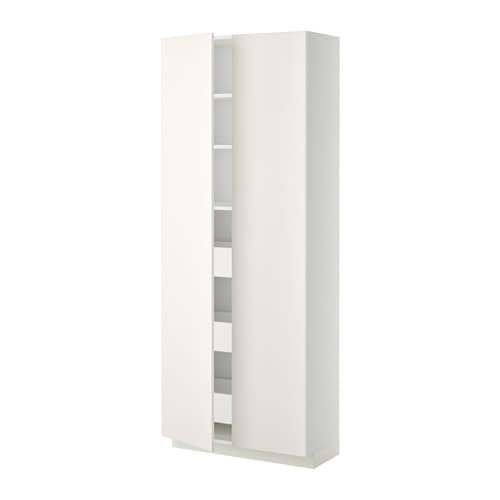 metod / maximera mobile alto/cassetti/2ante - bianco, veddinge ... - Ikea Cassetti Cucina