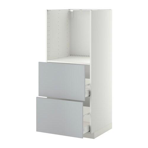 Metod maximera mobile alto 2 cassetti per forno bianco veddinge grigio ikea - Mobile da incasso forno ikea ...
