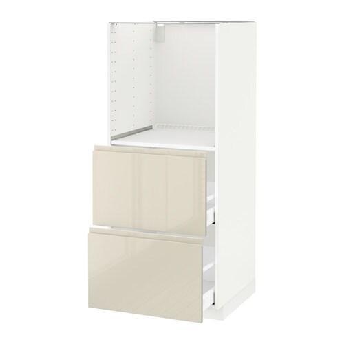 Metod maximera mobile alto 2 cassetti per forno bianco voxtorp lucido beige chiaro ikea - Mobile da incasso forno ikea ...
