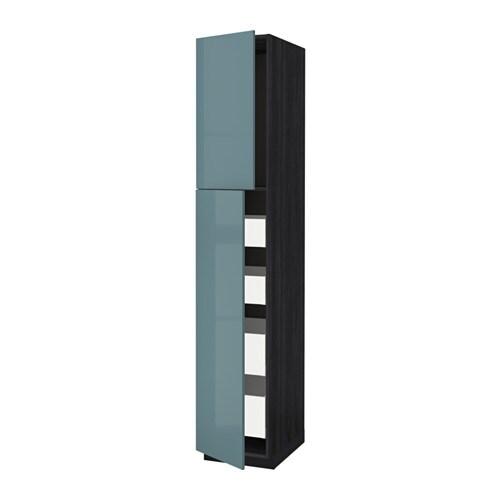 metod / maximera mobile alto con 2 ante/4 cassetti - effetto legno ... - Mobile Soggiorno Turchese 2