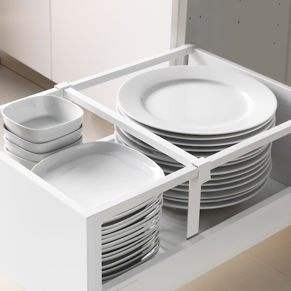 METOD / MAXIMERA Mobile alto con cassetti, nero/Edserum marrone, 40x60x200 cm