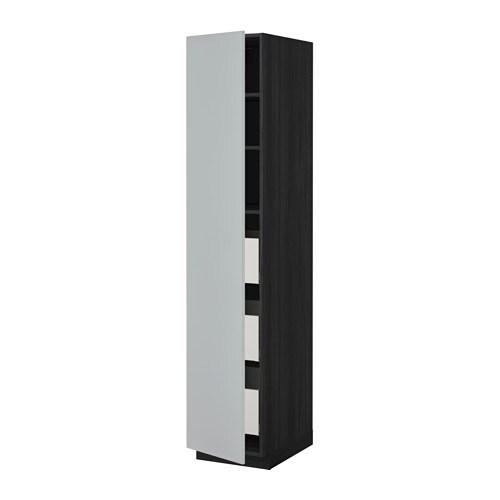 Metod maximera mobile alto con cassetti effetto legno - Mobile alto e stretto ikea ...