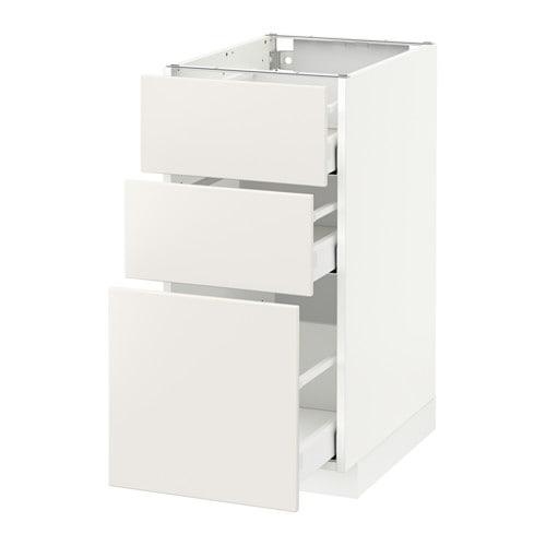 METOD / MAXIMERA Mobile base con 3 cassetti - bianco, Veddinge ...