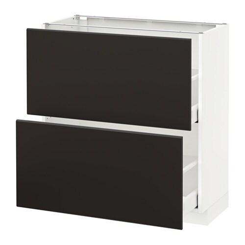 Metod maximera mobile base con 2 cassetti bianco - Guide per cassetti ikea ...