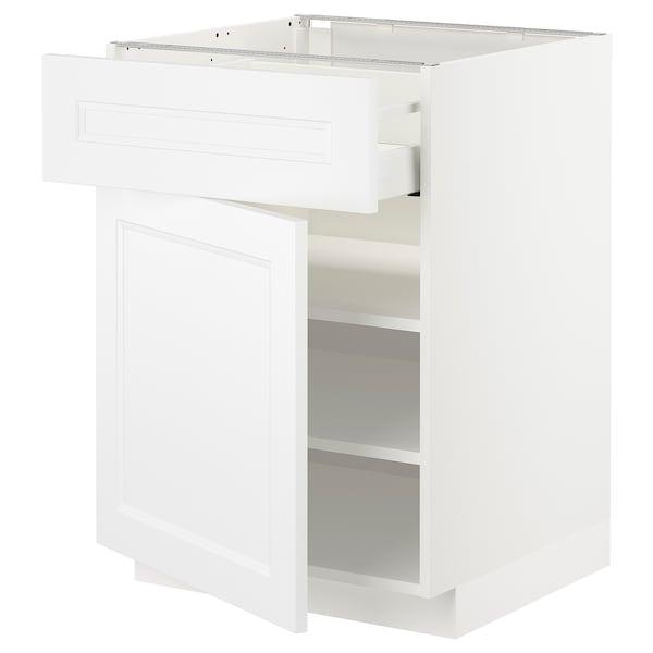 METOD / MAXIMERA Mobile base con cassetto/anta, bianco/Axstad bianco opaco, 60x60 cm