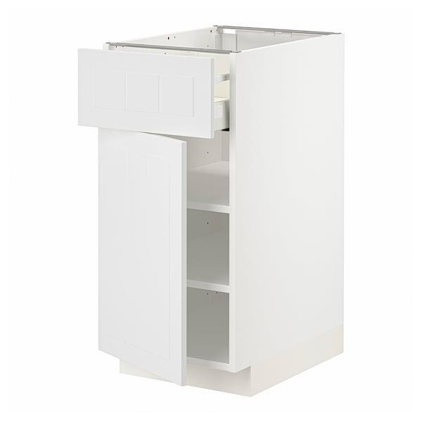 METOD / MAXIMERA Mobile base con cassetto/anta, bianco/Stensund bianco, 40x60 cm
