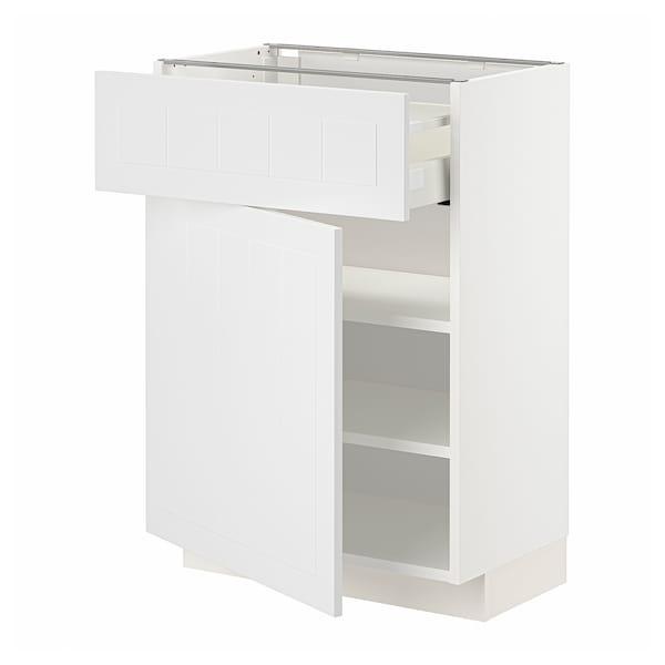 METOD / MAXIMERA Mobile base con cassetto/anta, bianco/Stensund bianco, 60x37 cm