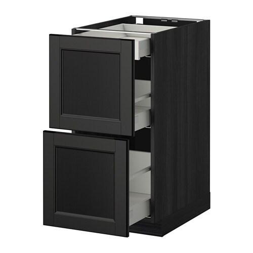 metod maximera mobile base 2frontali 3cassetti effetto legno nero laxarby marrone nero. Black Bedroom Furniture Sets. Home Design Ideas