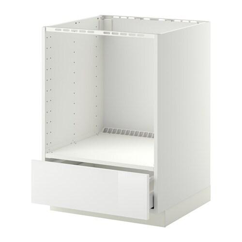 Metod maximera mobile base per forno e cassetto bianco - Mobile da incasso forno ikea ...