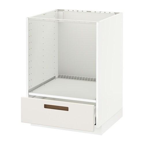 METOD / MAXIMERA Mobile base per forno e cassetto - bianco, Ringhult ...