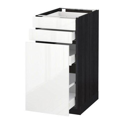 Metod maximera mobile cestelli dispensa 2 frontali effetto legno nero ringhult lucido - Ikea mobile dispensa ...