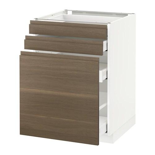 Metod maximera mobile cestelli dispensa 2 frontali bianco voxtorp effetto noce 60x60 cm ikea - Ikea mobile dispensa ...