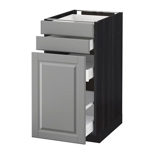 metod maximera mobile cestelli dispensa 2 frontali effetto legno nero bodbyn grigio 40x60. Black Bedroom Furniture Sets. Home Design Ideas