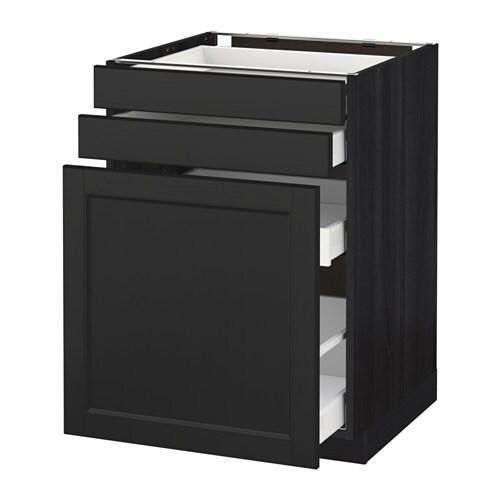 Metod maximera mobile cestelli dispensa 2 frontali effetto legno nero laxarby marrone nero - Ikea mobile dispensa ...