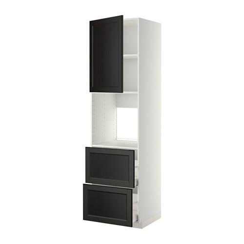 Metod maximera mobile forno cass 2front 2cass alti bianco laxarby marrone nero 60x60x220 - Mobile da incasso forno ikea ...