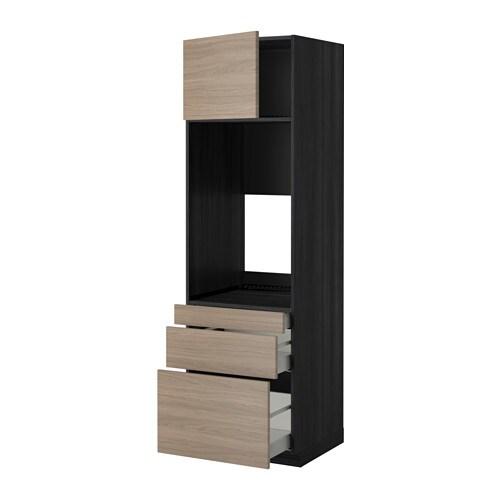 METOD / MAXIMERA Mobile forno doppio/3 cassetti/anta ...