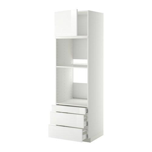 Metod maximera mobile forno forno combi cass 3cass bianco ringhult lucido bianco 60x60x200 - Mobile da incasso forno ikea ...