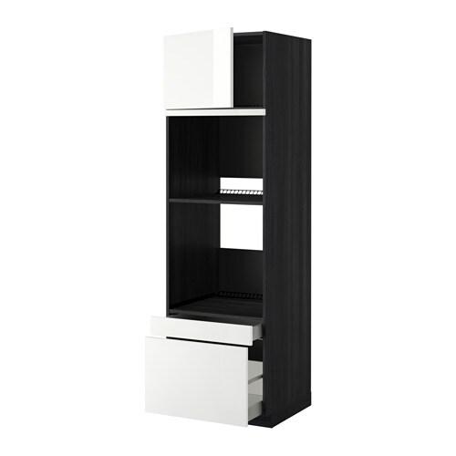 Metod maximera mobile forno forno combi cass 2cass effetto legno nero ringhult lucido - Mobile da incasso forno ikea ...