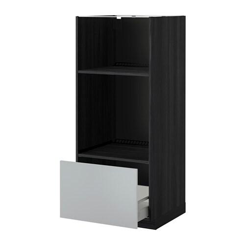 Metod maximera mobile forno micro con cassetto effetto legno nero veddinge grigio ikea - Mobile da incasso forno ikea ...