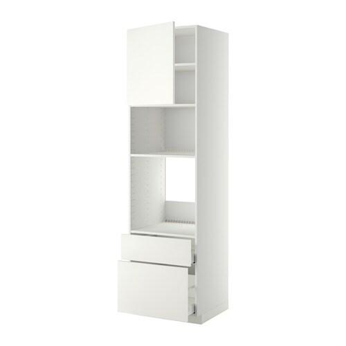 Metod maximera mobile forno microond anta 2cassett bianco h ggeby bianco 60x60x220 cm ikea - Mobile da incasso forno ikea ...