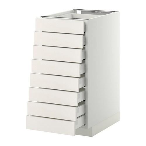 Ikea Schuhschrank Ställ Weiss ~ METOD MAXIMERA Mobile 8frontali 8cassetti bassi IKEA L'anta si chiude