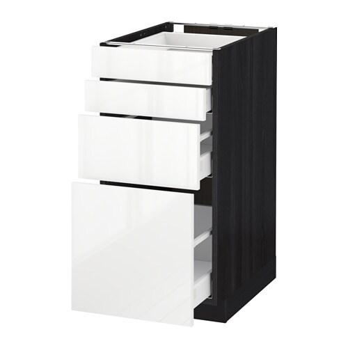 METOD / MAXIMERA Mobile/4 frontali/4 cassetti - effetto legno nero ...