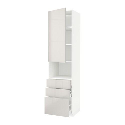 Metod maximera mobile microonde anta 3 cassetti bianco - Mobile porta microonde ikea ...