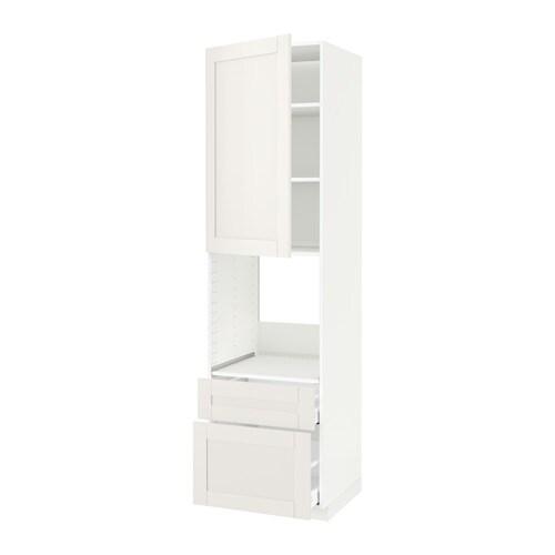 Metod maximera mobile per forno anta 2 cassetti bianco s vedal bianco 60x60x220 cm ikea - Mobile da incasso forno ikea ...