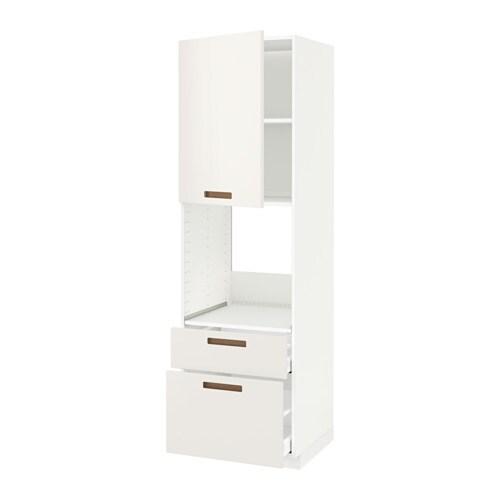 Metod maximera mobile per forno anta 2 cassetti bianco m rsta bianco 60x60x200 cm ikea - Mobile da incasso forno ikea ...
