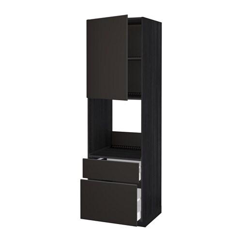 Metod maximera mobile per forno anta 2 cassetti effetto legno nero kungsbacka antracite - Mobile da incasso forno ikea ...