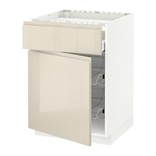 Metod maximera mobile piano cottura casset 2cestel bianco voxtorp lucido beige chiaro ikea - Mobile piano cottura ...