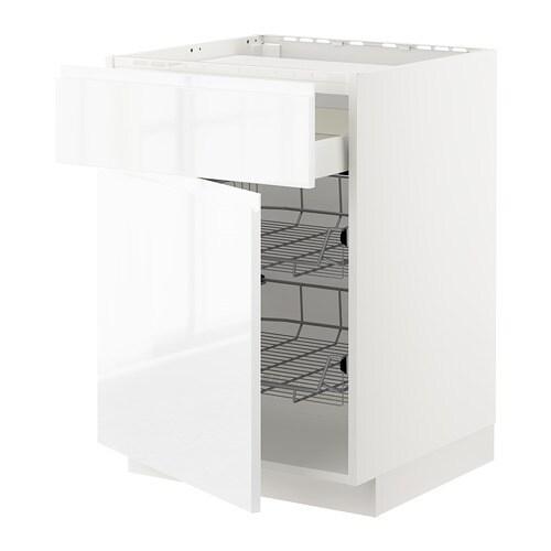 Metod maximera mobile piano cottura casset 2cestel bianco voxtorp lucido bianco ikea - Mobile piano cottura ...