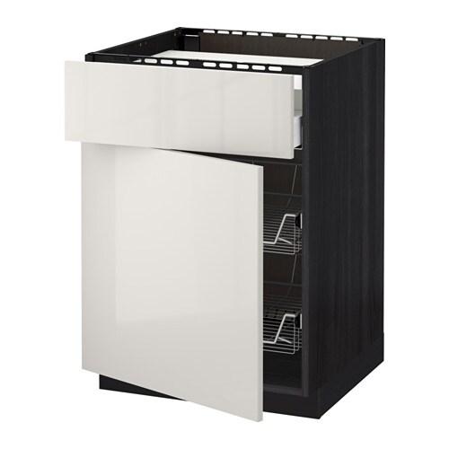 METOD / MAXIMERA Mobile piano cottura/casset/2cestel - IKEA