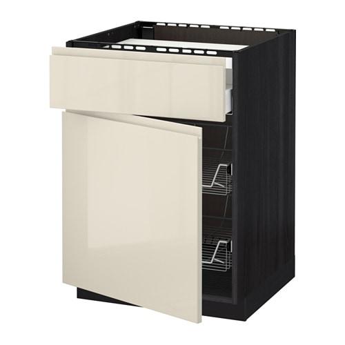 Metod maximera mobile piano cottura casset 2cestel effetto legno nero voxtorp lucido beige - Ikea elettrodomestici da incasso ...