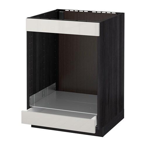 Metod maximera mobile piano cottura forno cassetto effetto legno nero ringhult lucido - Mobile da incasso forno ikea ...