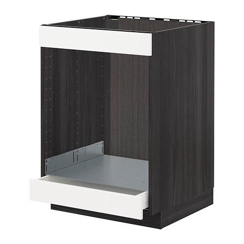 METOD / MAXIMERA Mobile piano cottura+forno/cassetto - effetto legno ...